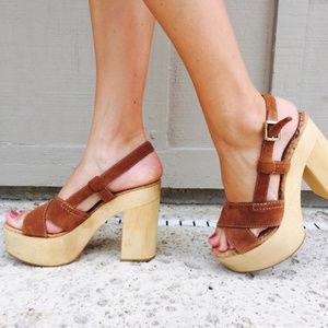 [SAM EDELMAN] Mae Wood Block Heel Platform Heels
